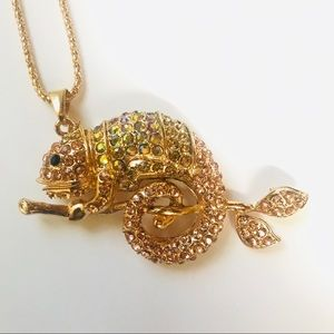 Jewelry - Huge Gold Chameleon Necklace